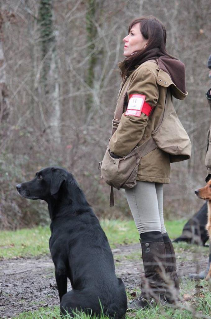 FRFTCH Ravensbank Sir Lancelot (Lance) og Anne Besnard på A-prøve.©Anne Besnard