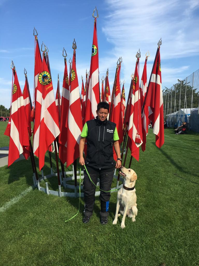 Ms. Malene Petersen and Ravensbank Hazel (Hazel) becomes no. 10 at the Danish Obedience Championship 2016. ©Malene Petersen