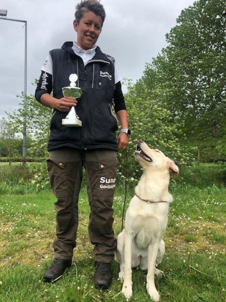 Ravensbank Hazel (Hazel) with Ms. Malene Petersen becomes a safe number one in DCH Obedience Class in Elite-class with 392,2 points of 400 possible. ©Malene Petersen