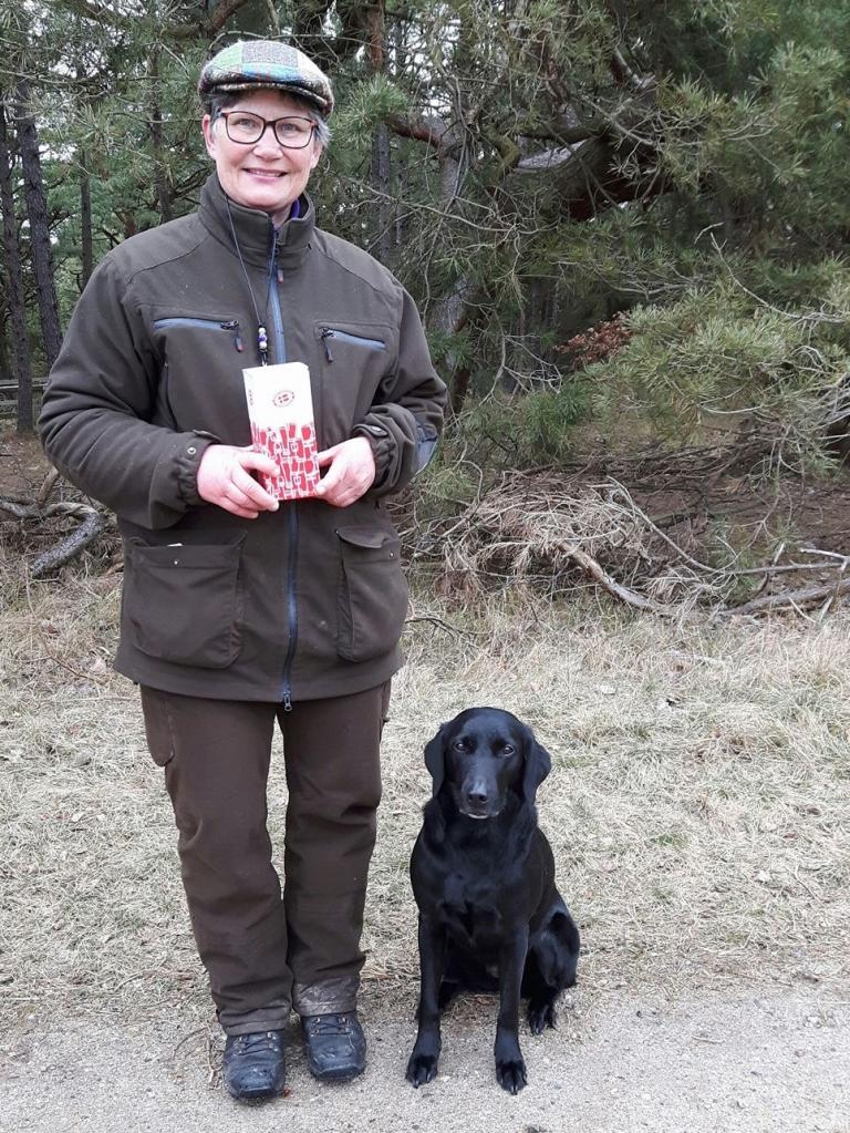 Ms. Pia Bielefeldt with Ravensbank Economist (Mynte) receives 6WT in open class at official Working Test and 2WT at Mock Trail.©Pia Bielefeldt