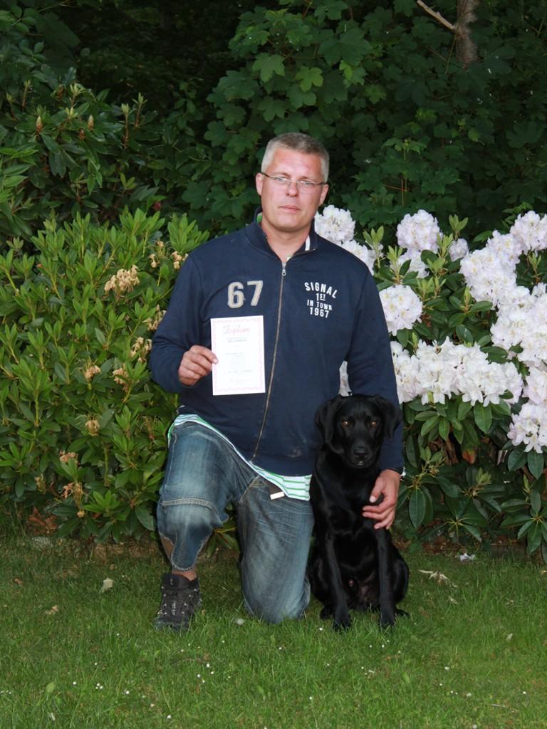 Ravensbank Ike (Veto) har sammen med Hans Frederik Kristiansen bestået brugsprøven.©Hans Frederik Kristiansen